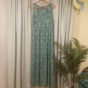 NWT Chaps V-Neck Sleeveless Maxi Dress L